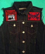 El True Mayhem Deathcrush Girls 'Black Metal Denim Cut-Off Chaleco Chaleco 8-18