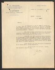 """PARIS (XVI°) CHAUSSURES pour ENFANTS """"AU PROGRES / L'ANTON"""" en 1933"""