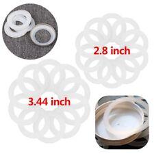 Silicone Sealing Rings Seal Gasket Reusable Jam Preserving Glass Jar Lid Cap 10X