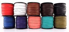 "Deertan Deer Leather Lace Spool 1/8"" 3MM x 50 FT DIY Craft Supplies Cord Jewelry"