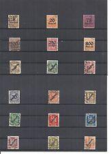 Deutsches Reich 1923, Dienstmarken, Einzelmarken aus MiNrn: 89 - 113 o, Auswahl