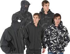 NUOVO Da Uomo Posizione Impermeabile Goggle FOCACCIA Pioggia Giacca Con Cappuccio Cappotto Tutte le Taglie
