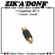 Coupleur RCA femelle / femelle (adaptateur, raccord, prise, audio,vidéo)