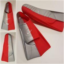 Nike Schwimmflossen Taucherflossen Flossen Tauchen Kinder Pace-Fins grau-rot E