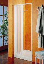 Porta box doccia a nicchia da parete in Pvc a soffietto da 1 lato su misura