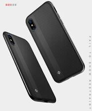 Funda Protector PC+TPU Fibra de Carbon 360 Grado para iPhone X / Xs