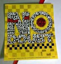 No Doubt Rock Steady Yellow Checkered Red Helmet Bike Board Case Amp Sticker