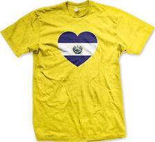 El Salvador Flag Heart Colors Salvadorian Love National Pride SLV Men's T-Shirt