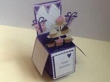 Handmade card CUPCAKE design personalised pop up card.