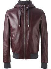 US Men Leather Jacket Hommes veste cuir Herren Lederjacke chaqueta de cuero R19a