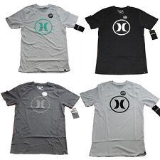 Hurley Men's Circle Icon Nike Dri-Fit Short Sleeve Premium Tee Shirt 4 Colors