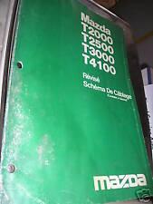 Mazda T2000 T2500 T3000 T4100 1983 : Schémas électrique