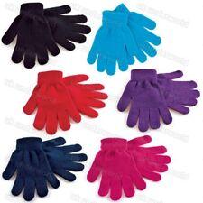 Childrens Boys Girls Kids Plain Mini Magic Stretch Gloves Winter Warm