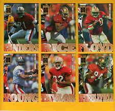 1995 Black Label San Francisco 49ers Set JERRY RICE STEVE YOUNG DEION SANDERS