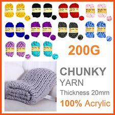 6 x 200g SUPER CHUNKY WOOL KNITTING YARN Bulky Knit Roving Crocheting Sweater