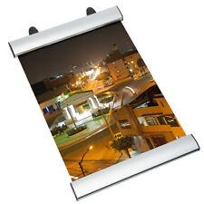 Carril de sujeción Clamp de aluminio Carril de poster Tira de poster