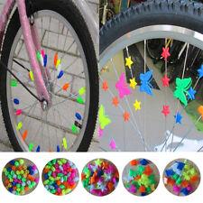 36 tlg Bunt Fahrrad Speichenperlen Speichenclips für Fahrrad Bike Deko Schmuck