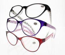 Cat Eyes Designer Reading Glasses Retro Style 3 Colors +1.00 +1.50 +2.00 ~ +4.00