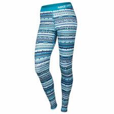 Nike WOMEN'S PRO Caldo 8-Bit in esecuzione collant-Blue lagoon/Nero-Bianco