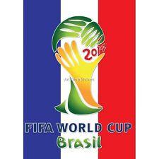 Sticker autocollant foot Coupe du monde Brésil Drapeau France Brésil Drapeau Fra