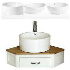 Bathroom Vanity Painted Unit Corner Wash Stand & White Ceramic Basin 501PW