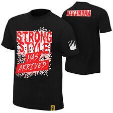 "WWE Shinsuke Nakamura ""Strong Style has arrived"" AUTHENTIC T-Shirt Nuovo In Magazzino"