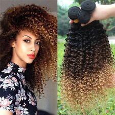 7A Brazilian 1/3/4 Bundles 1B/4/27 Ombre Kinky Curly Human Virgin Hair Extension