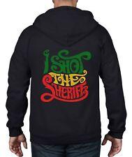 I Shot The Sheriff Reggae Full Zip Hoodie - Rasta Rastfarian Bob Marley
