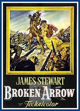 Broken Arrow  Westerns & Cowboy  Movie Posters Vintage Classic Cinema