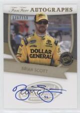2012 Press Pass Fanfare Autographs Gold #BS Brian Scott Auto Rookie Racing Card