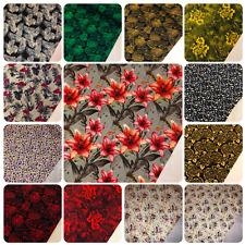 Perfect Poplin  Floral Valentina 100/% Cotton Dressmaking Fabric
