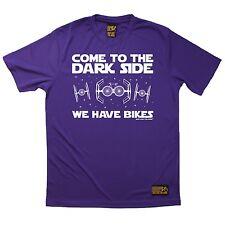 Ven al lado oscuro hemos bicicletas Transpirable Deportes Camiseta Ciclismo Navidad