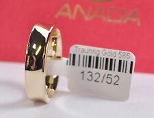 1 Trauring - Hochzeitsring Gold 585 - Hochglanz - Breite 5mm - Stärke 1,8mm