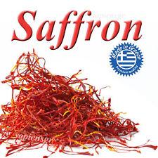PURE GREEK SAFFRON - BEST QUALITY SPICE CROCUS STEMS ZAFRAN - FINEST FRESH FREE