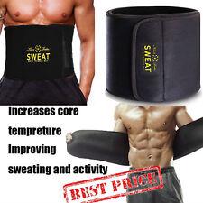 UK Neoprene Sweat Belt Waist Trainer Gym Body Shaper Slim Butt Shaper Mens Women