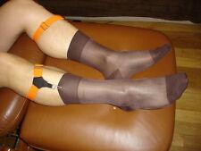 Lot 4 Chaussettes nylon transparent socks sheer cho7 marron unie  T-39/42