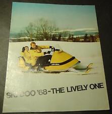 1968 SKI-DOO SNOWMOBILE 8 PAGE SALES BROCHURE NICE
