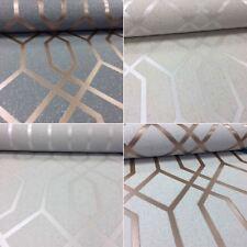 3D Effect Geometric Wallpaper Textured Vinyl Glitter Quartz Trellis Fine Decor
