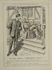 """7x10"""" PUNCH cartoon 1921 IN THE SPRING bonar law / lloyd george"""