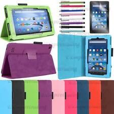 Amazon Kindle Fire 7 HD 8 10 Folio Premium Slim Smart Leather Case Stand Cover