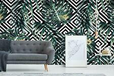 3D Geometric Green Leaf 56 Wall Paper Wall Print Decal Deco Indoor Wall Mural CA