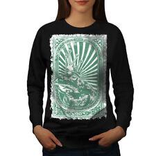 King Frog Toad Vintage Women Sweatshirt NEW | Wellcoda