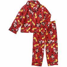 Disney Mickey Mouse 2 PC Long Sleeve Button Down Pajama Set Boy Size 3T