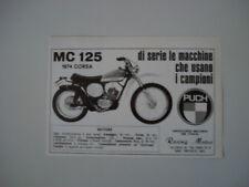 advertising Pubblicità 1974 MOTO PUCH MC 125 CORSA