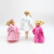 girls kids doll barbie furry fluffy coat dress clothing new 11+ style gift xmas
