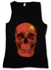 Classic Cina Skull Flag donna Tank Top Bandiera Teschio Bandiera Banner