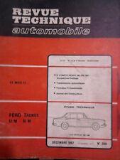 FORD Taunus 12M 15M (PEUGEOT 404)- Revue Technique Automobile