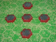 Lava 1-Hex Tile X5 Heroscape Terrain - Volcarren Wasteland