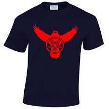 Cuervo Pentagrama Motociclista Camiseta para hombre S-5XL de Metal Rock Gótico Raven satánico satánicas