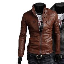 Giacca Giubbotto in Pelle Uomo Men Leather Jacket Veste Blouson Homme Cuir N9p